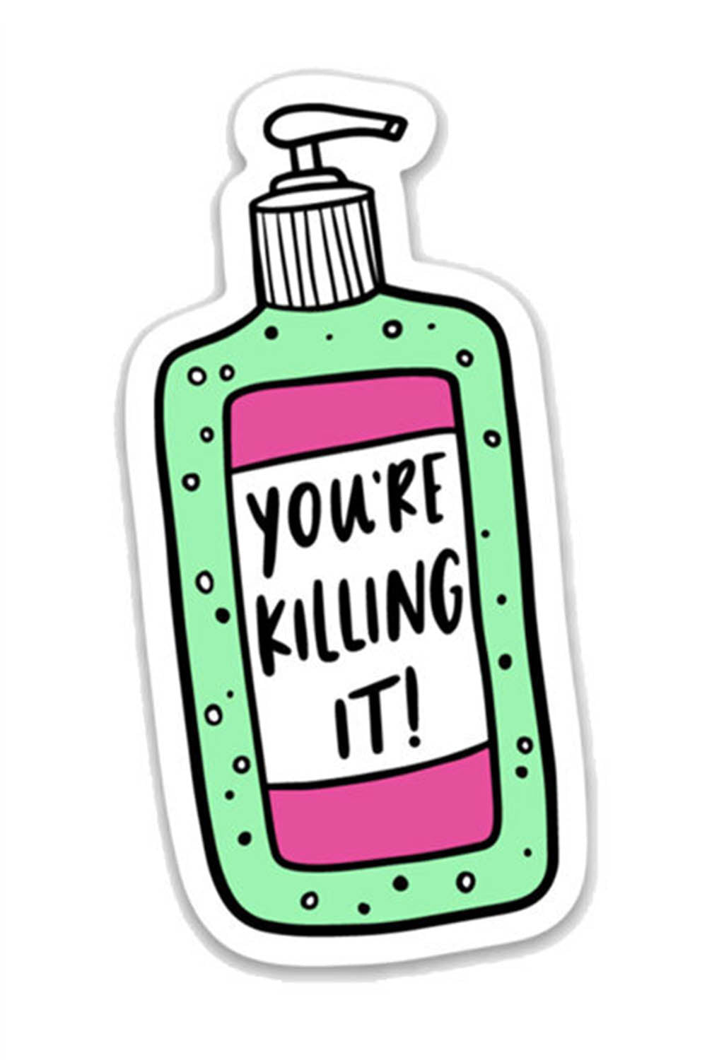 Trendy Sticker - Killing It Hand Sanitizer