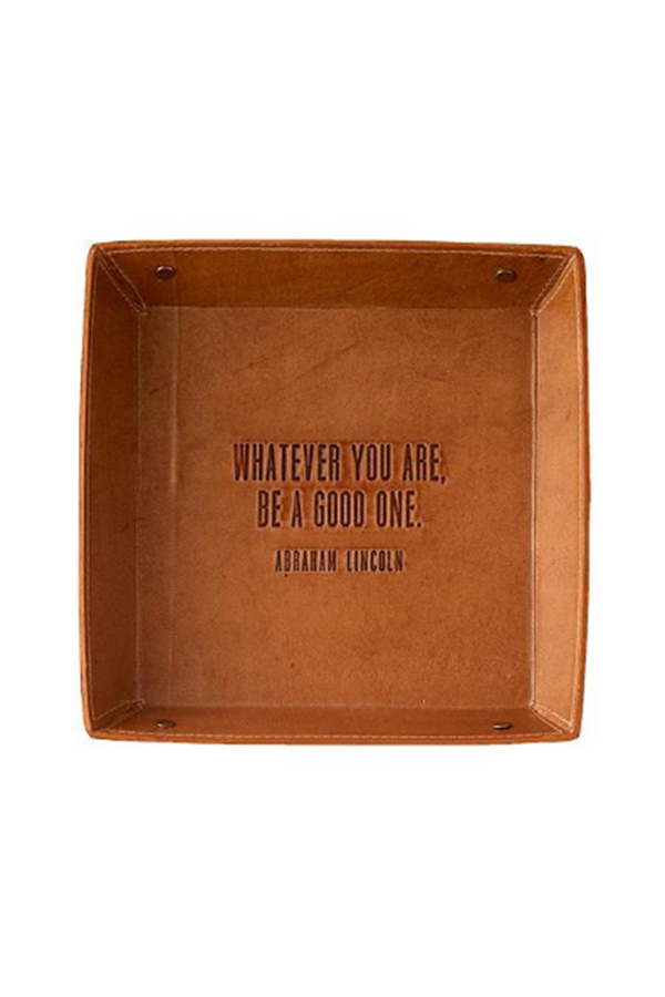 Leather Desk Tray - Whatever You Are