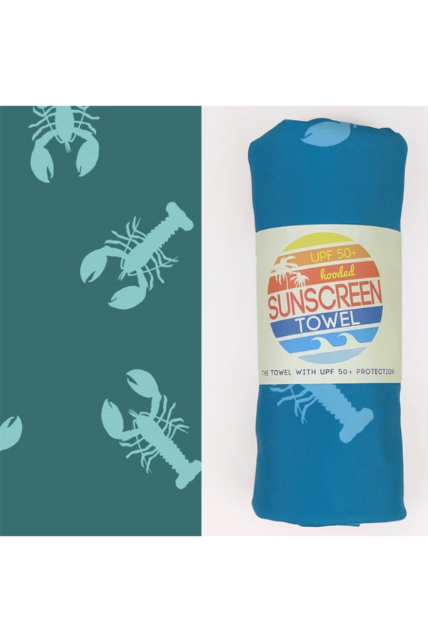 UPF 50+ Sunscreen Hooded Towel Mini Size - Lobstah