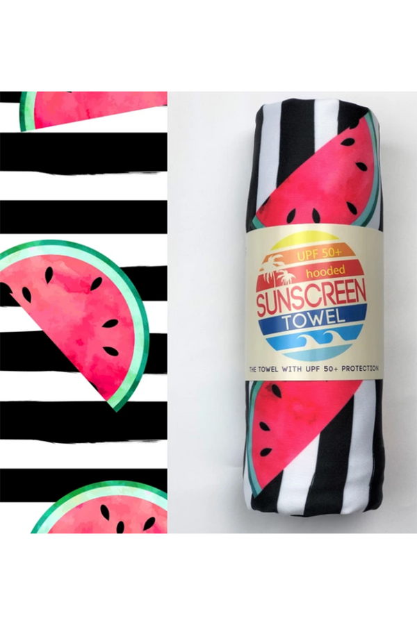 UPF 50+ Sunscreen Hooded Towel Mini Size - Watermelon