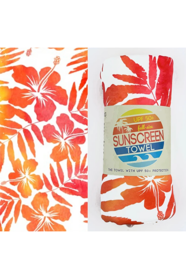 UPF 50+ Sunscreen Towel Full Size - Tropical Breeze