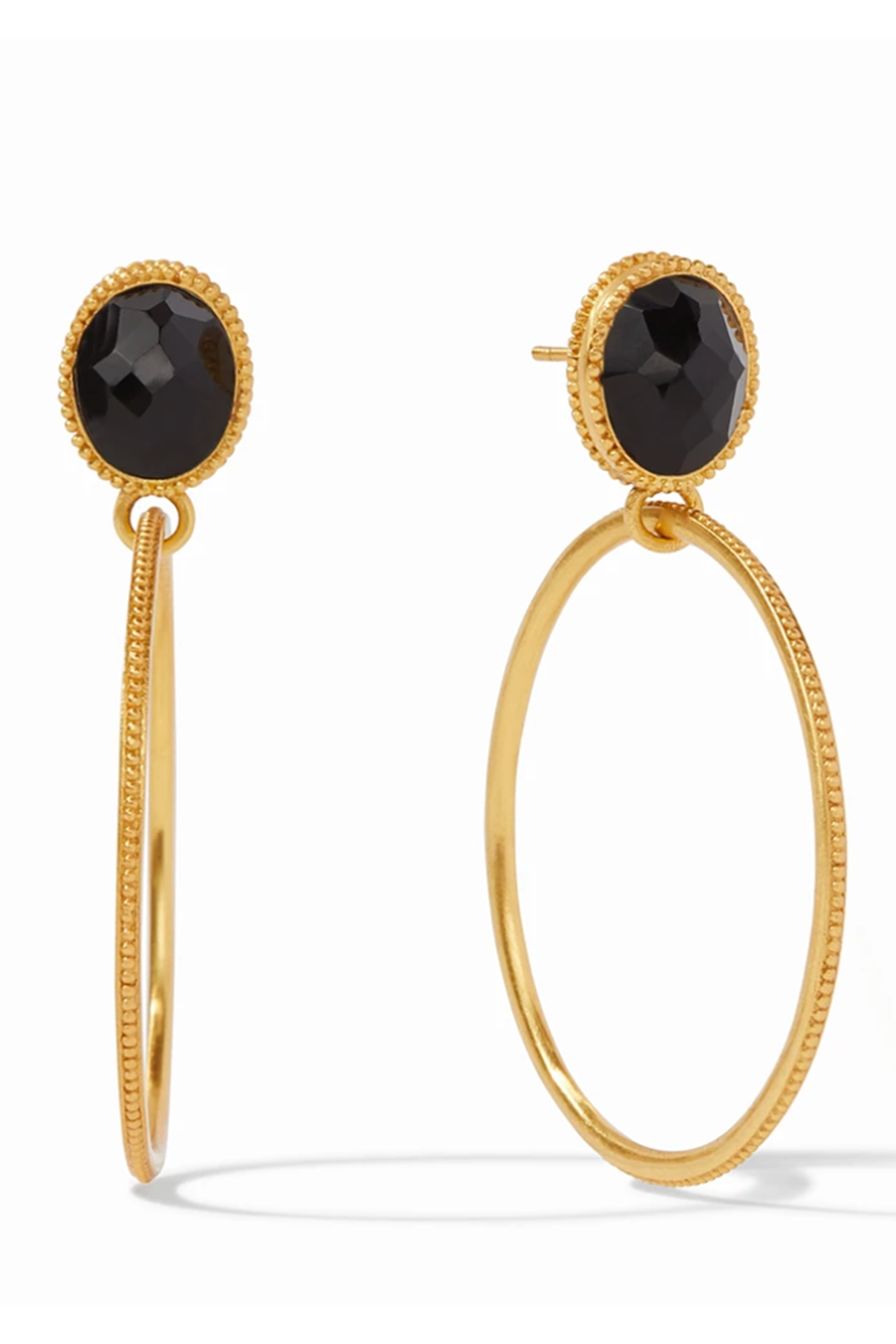 Vos Verona Statement Earring - Obsidian Black