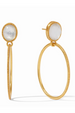 Vos Verona Statement Earring - Iiridescent Clear