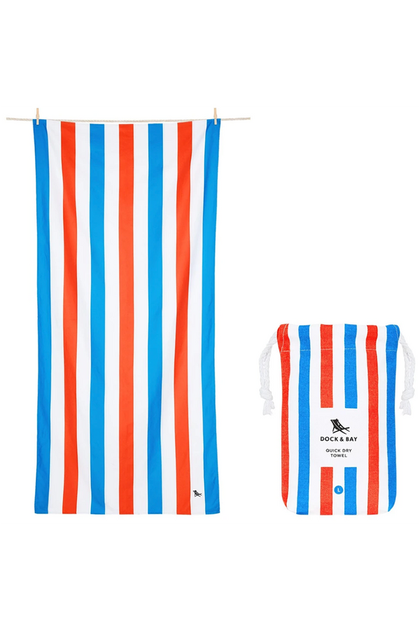 Quick Dry Cabana Beach Towel - Poolside Party