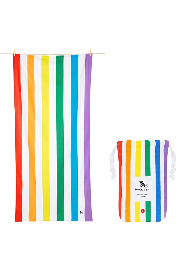 Quick Dry Cabana Beach Towel - Rainbow Skies