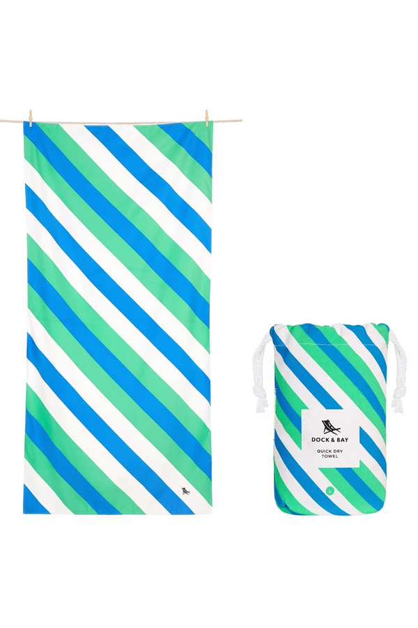Quick Dry Sway Beach Towel - Pacific Tide