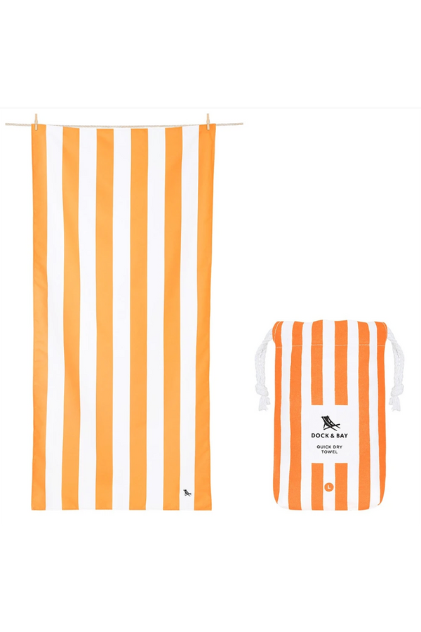 Quick Dry Cabana Beach Towel - Ipanema Orange