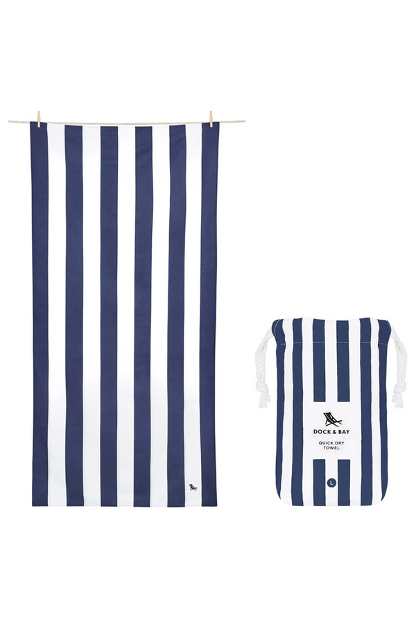 Quick Dry Cabana Beach Towel - Whitsunday Blue