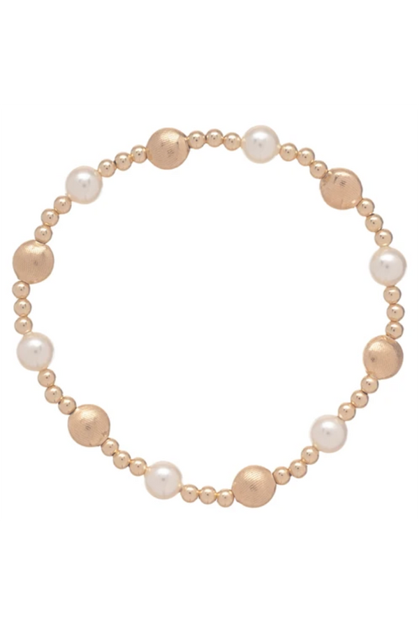 EN Honesty Pattern Bracelet - Pearl