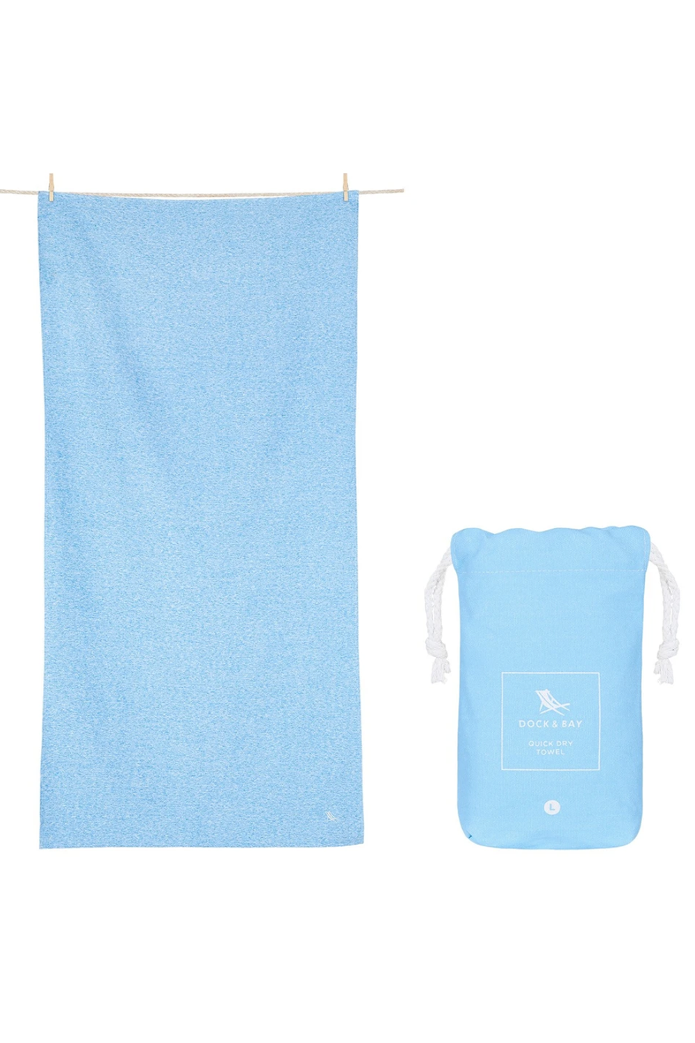 Quick Dry Summer Towel - Lagoon Blue