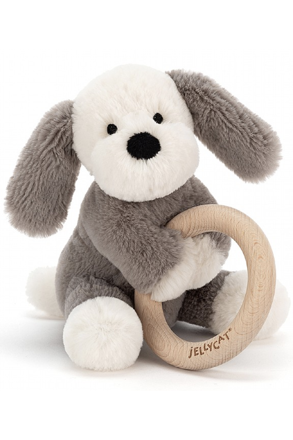 Shooshu Animal Wooden Ring Toy - Puppy