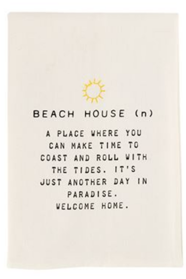 Dish Towel - Beach House