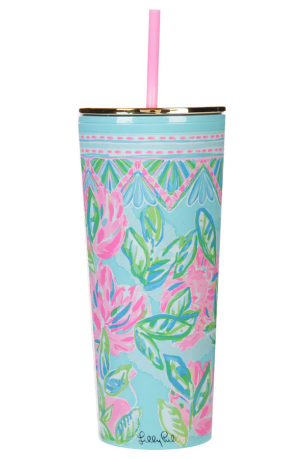 Lilly Straw Tumbler - Totally Blossom