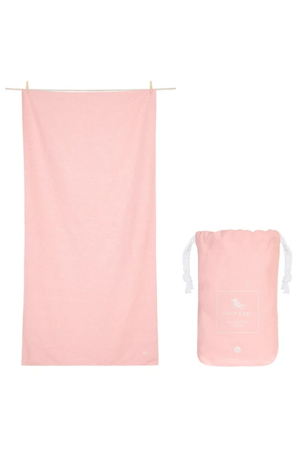 Quick Dry Summer Beach Towel - Island Pink