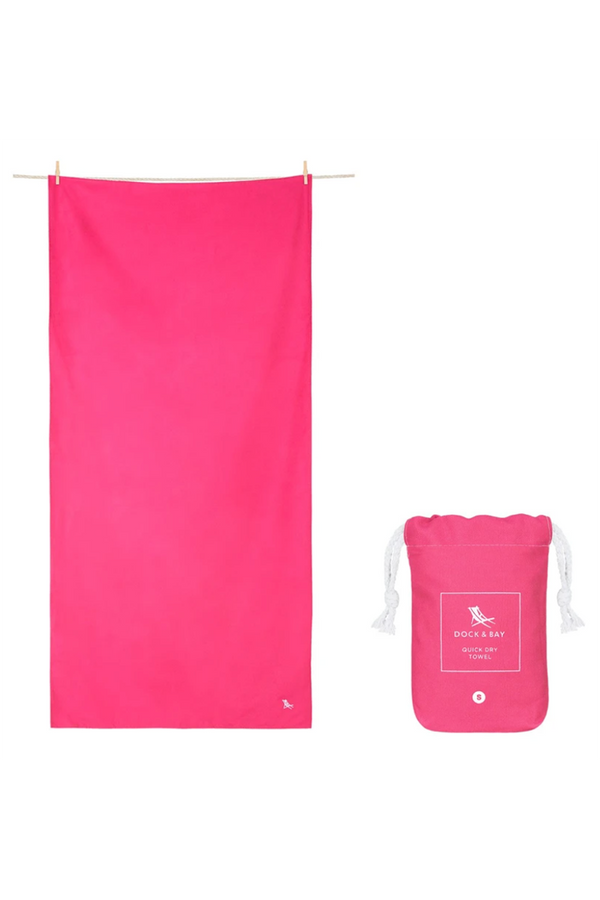 Quick Dry Summer Beach Towel - Angel Pink
