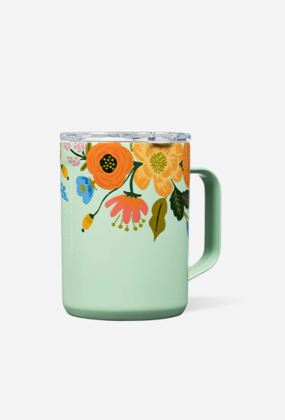 *Rifle Paper* Modern Coffee Mug - Gloss Mint Lively Floral
