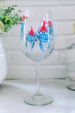 Stemmed Wine Glass - Blue Crab