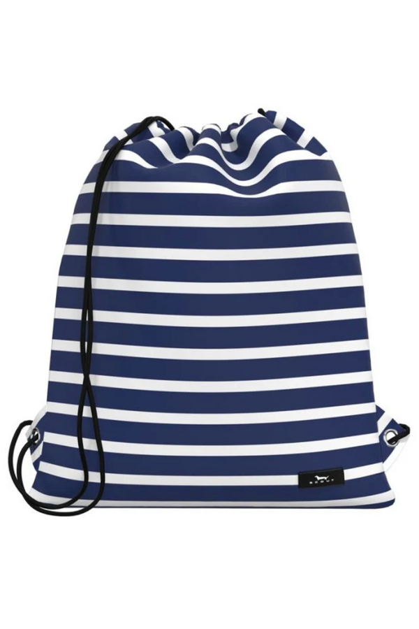 "Old School Drawstring Backpack - ""Nantucket Navy"" J20"