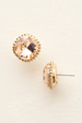 Cushion Cut Solitaire Stud Earring - Light Peach