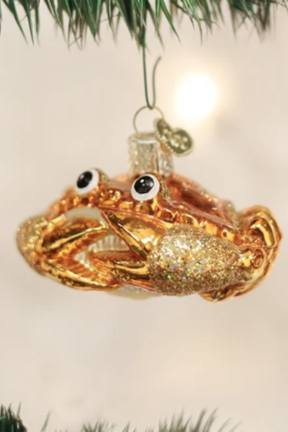 Glass Ornament - Crab Louie