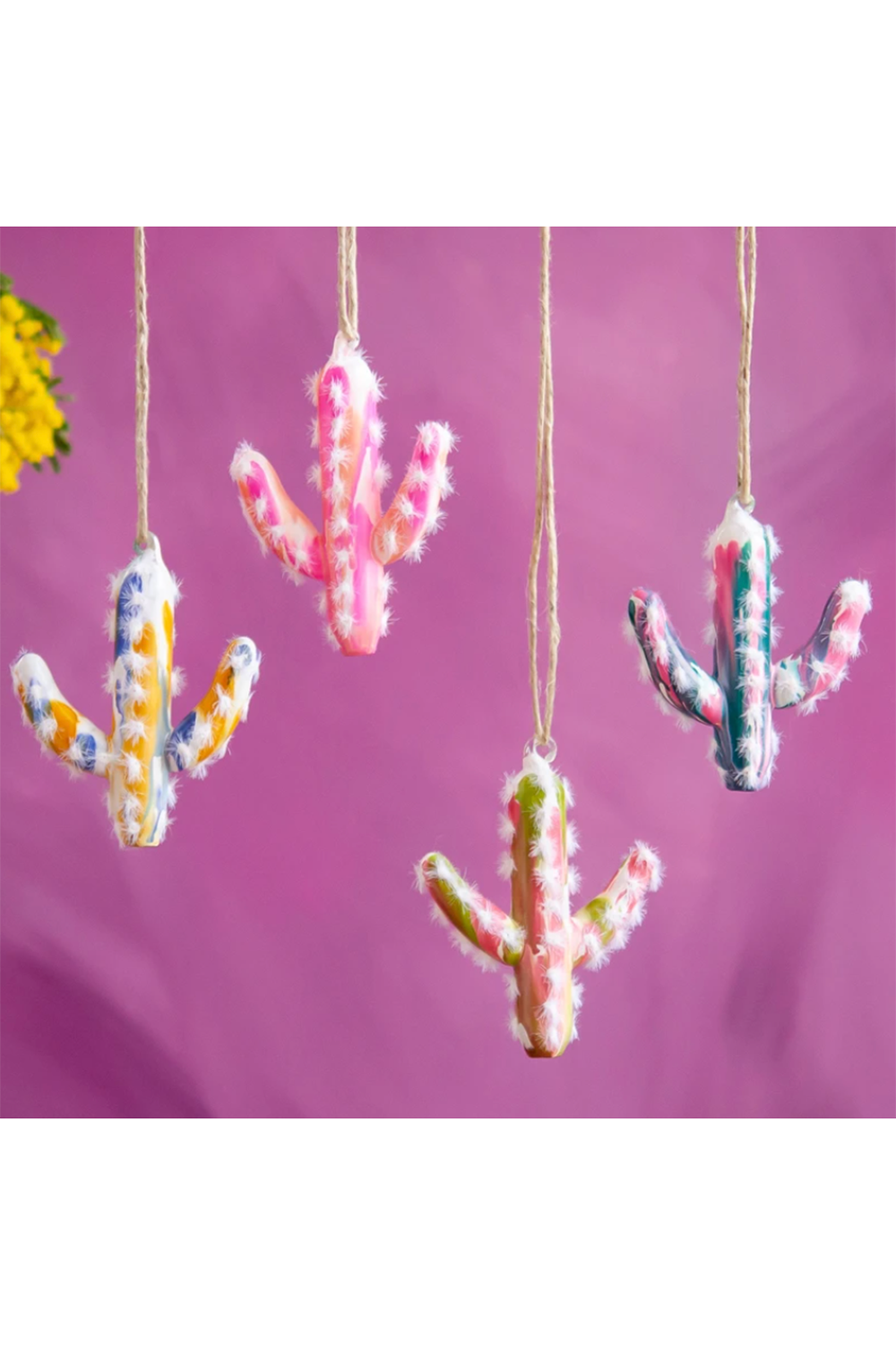 Glass Ornament - Marble Cactus