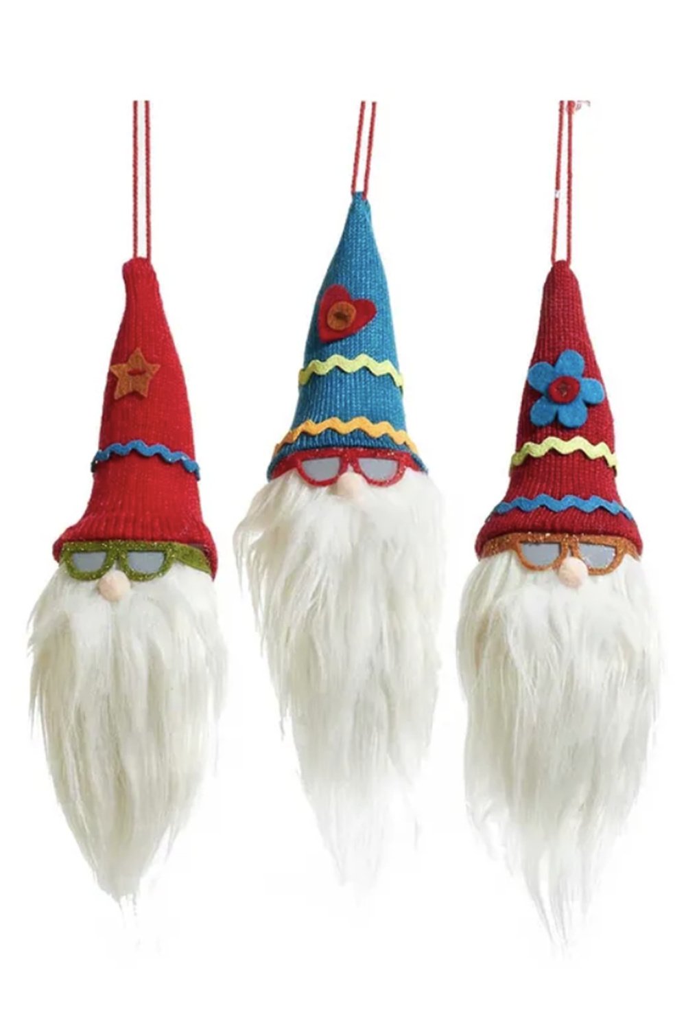 Soft Ornament - Gnome Head in Sunnies