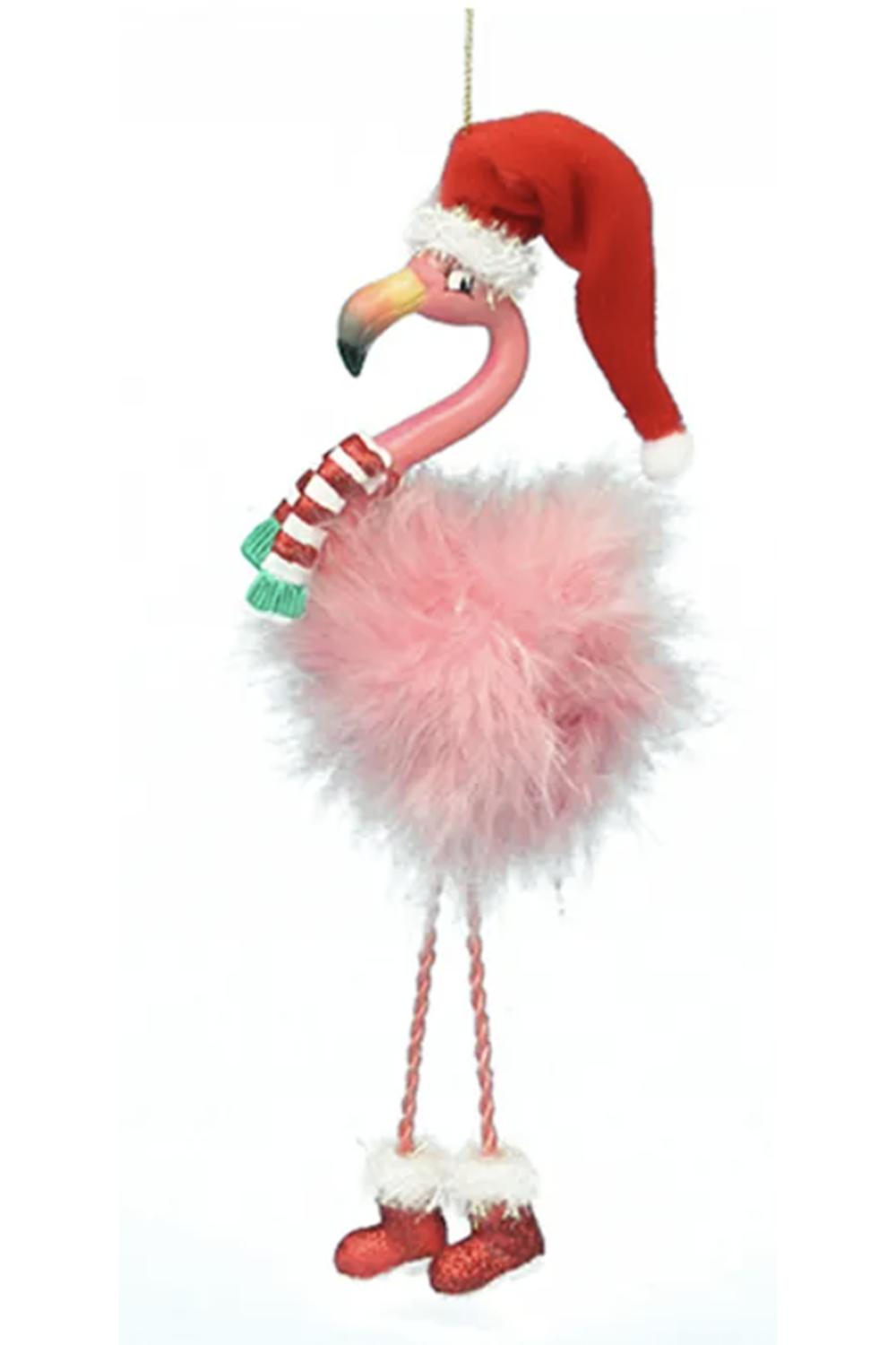 Funky Ornament - Dangle Leg Flamingo