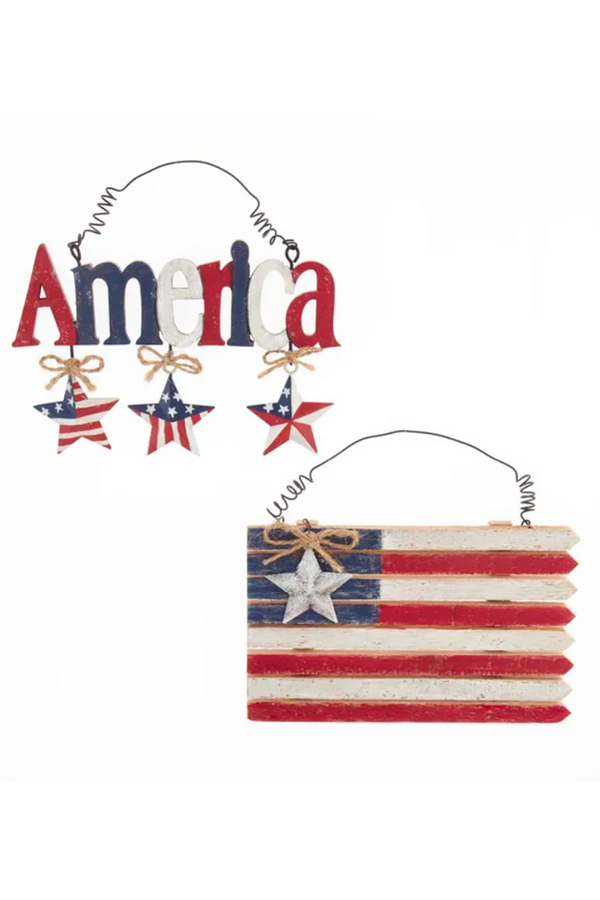 Wooden Ornament - American