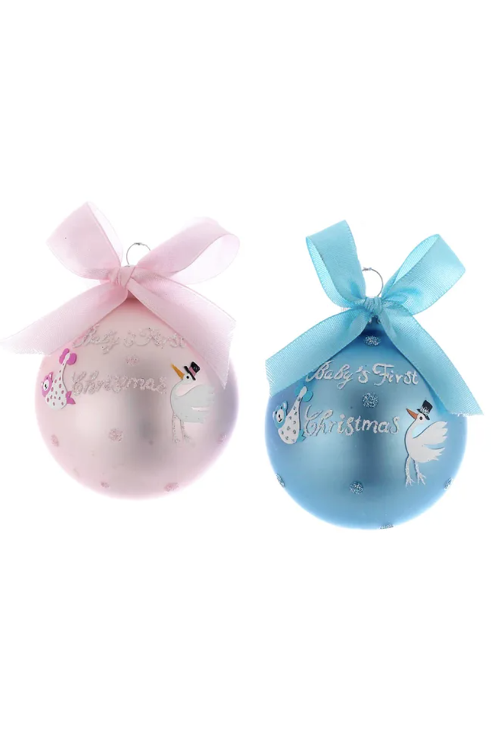 Glass Ornament - Baby's First Christmas Ball