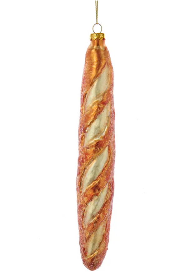 Glass Ornament - French Baguette