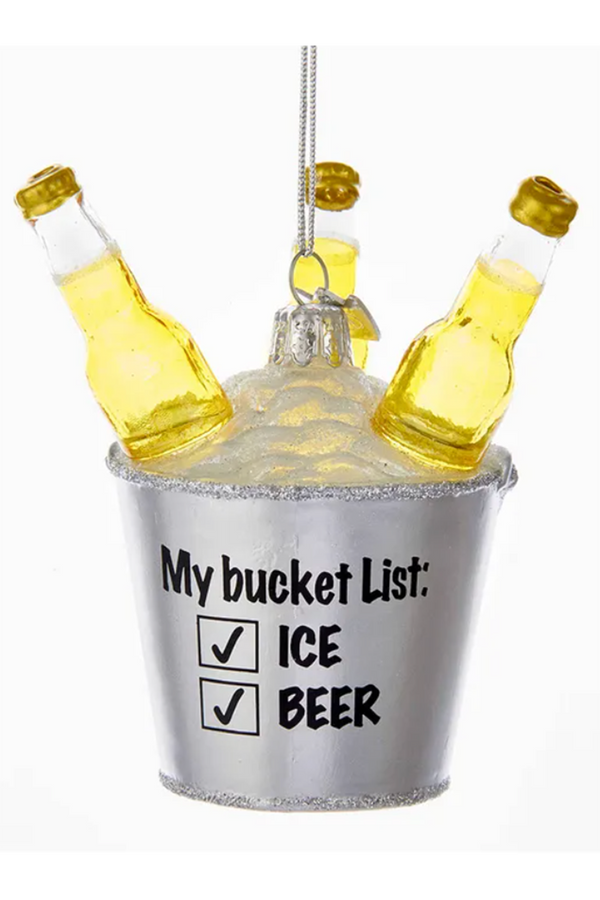 Glass Ornament - My Bucket List Beer