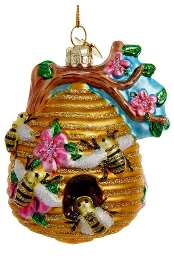 Glass Ornament - Beehive