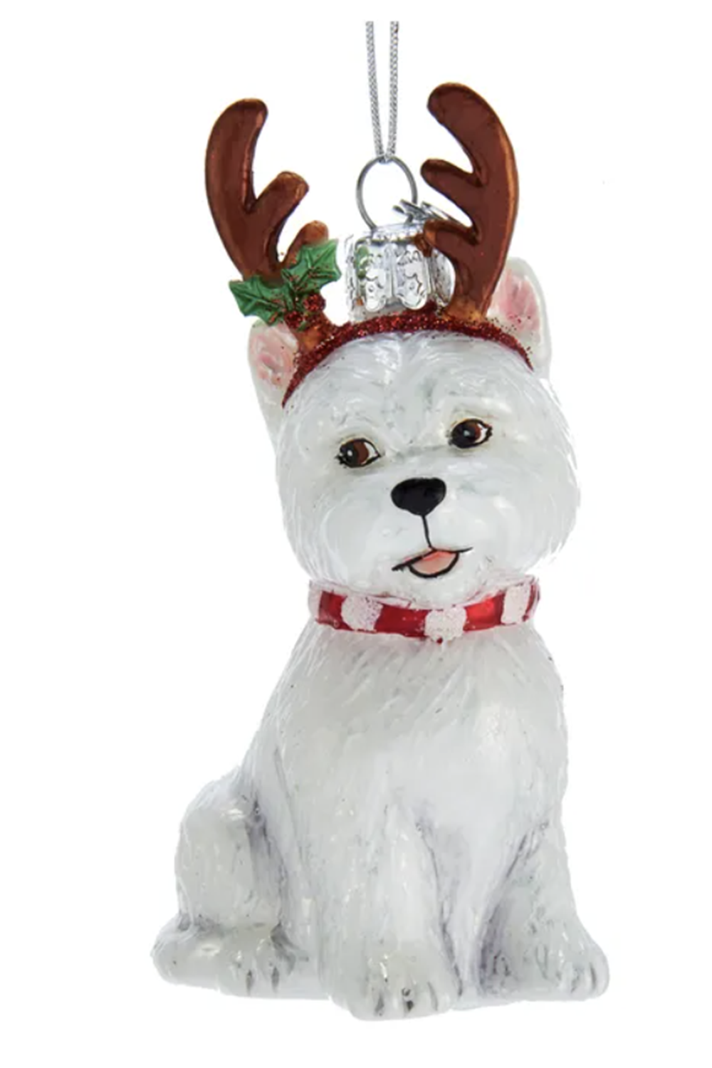 Glass Ornament - Dog Deer Westie