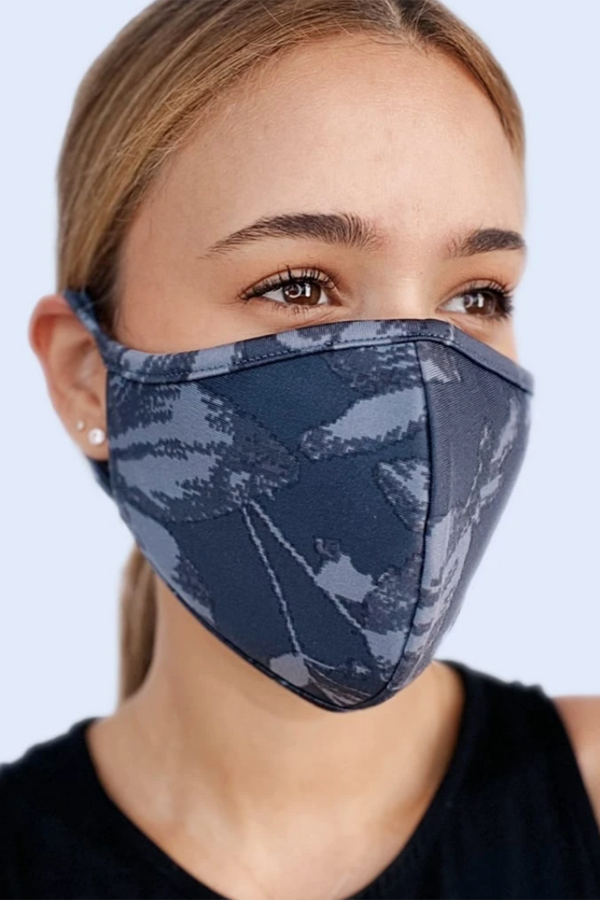 Reversible Face Mask - Charcoal Design