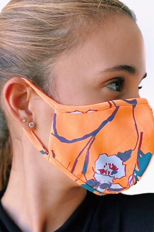 Reversible Face Mask - Clementine Teal