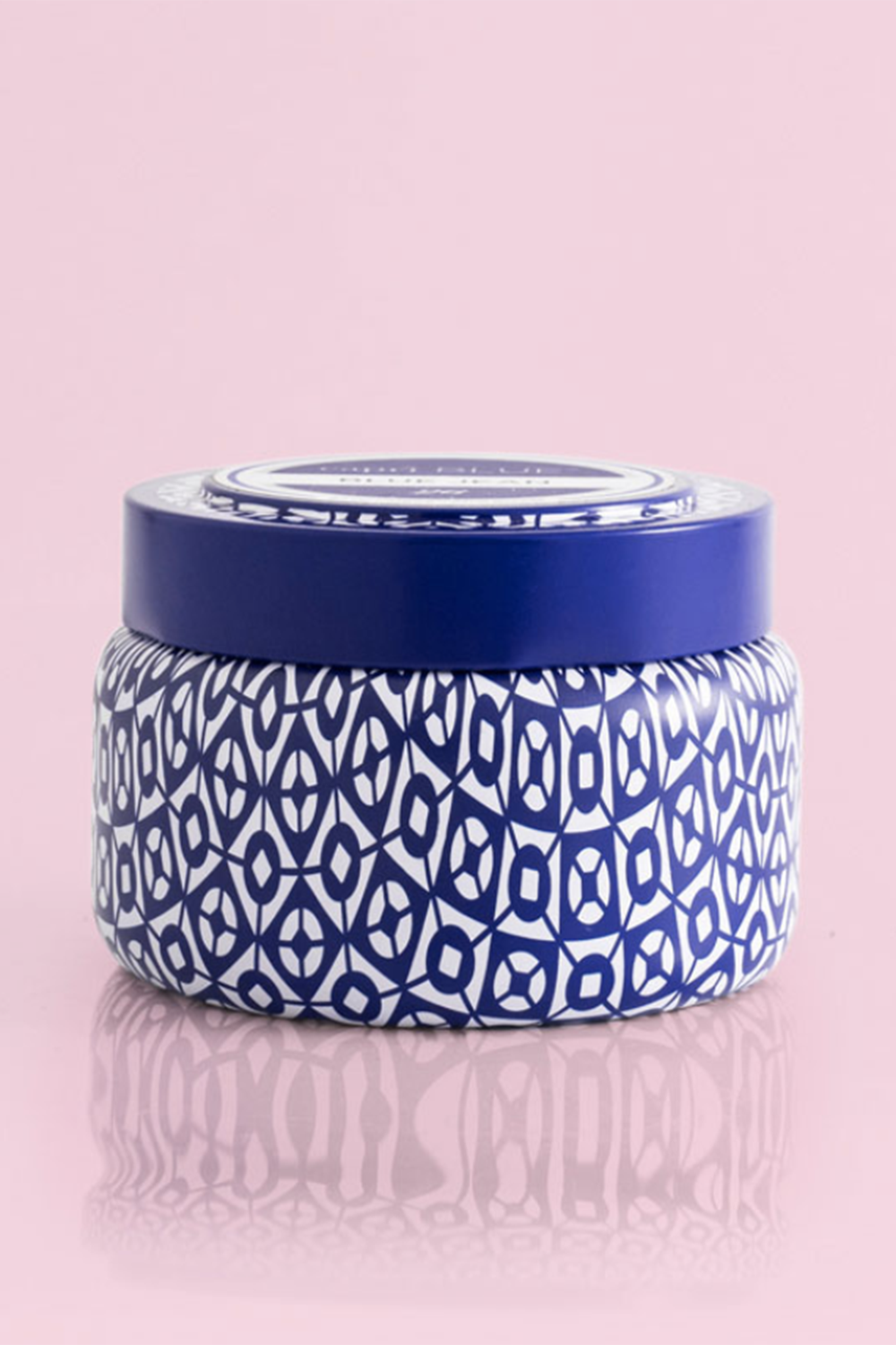 Printed Tin Candle - Volcano - Blue