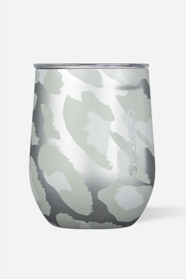 Modern Corkcicle Stemless Wine Tumbler - Snow Leopard