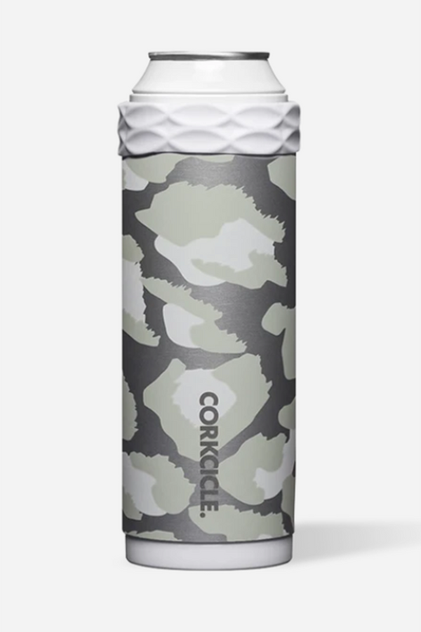 Corkcicle Skinny Can Cooler - Snow Leopard