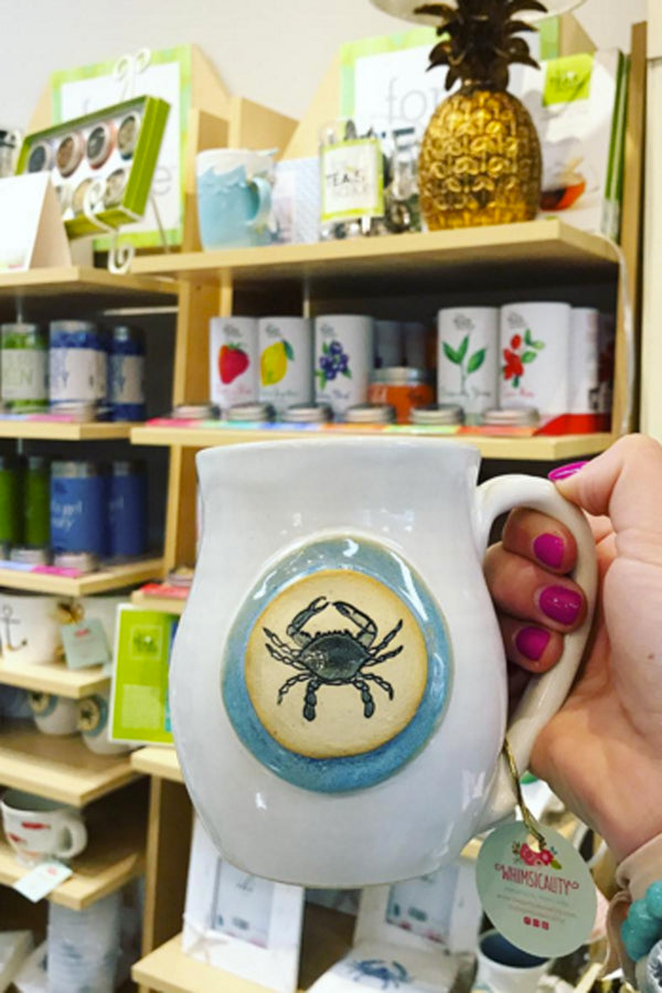 Joyful Clay Mug - Blue Crab