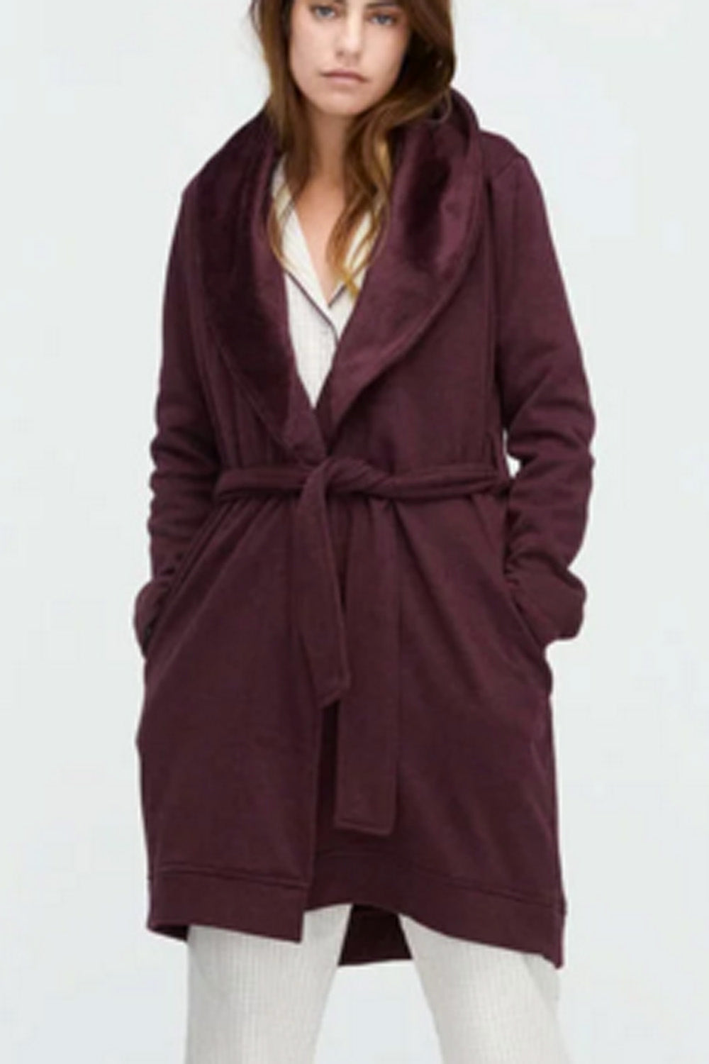 "The ""Blanche"" Robe - Port Heather Maroon"