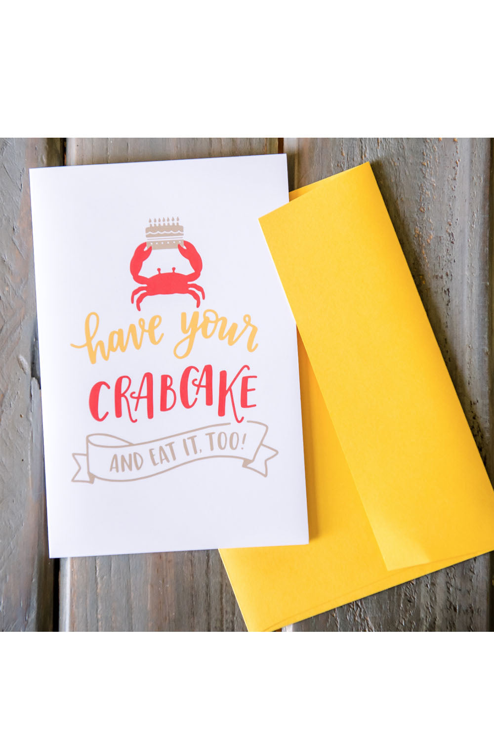 Locally Designed Greeting Card - Birthday Crabcake