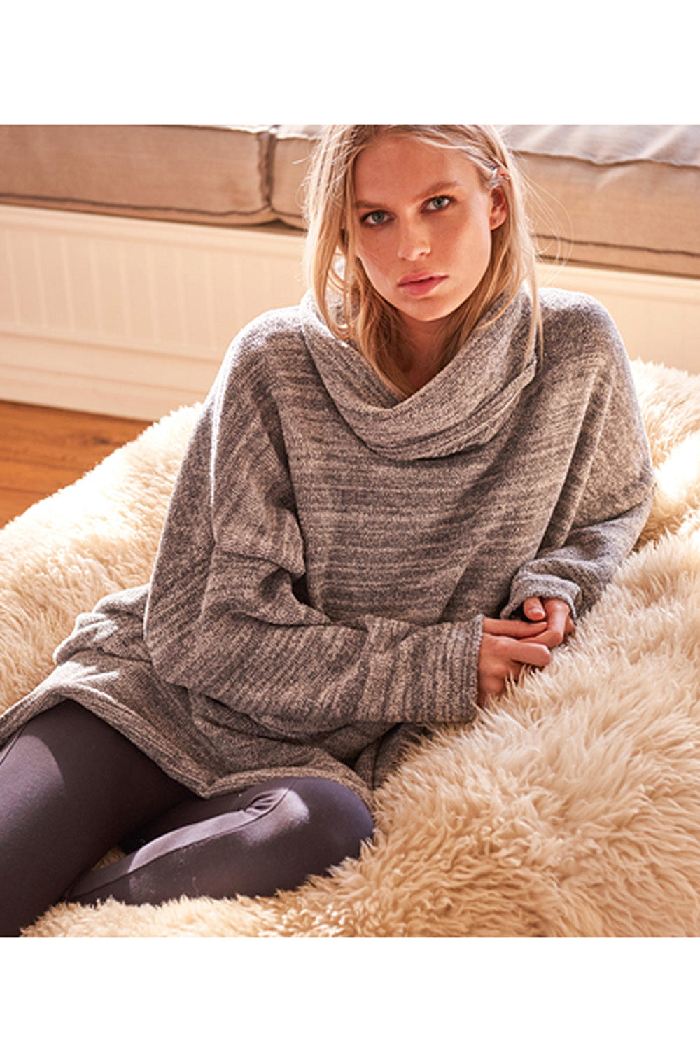 CozyChic Funnel Neck Pullover