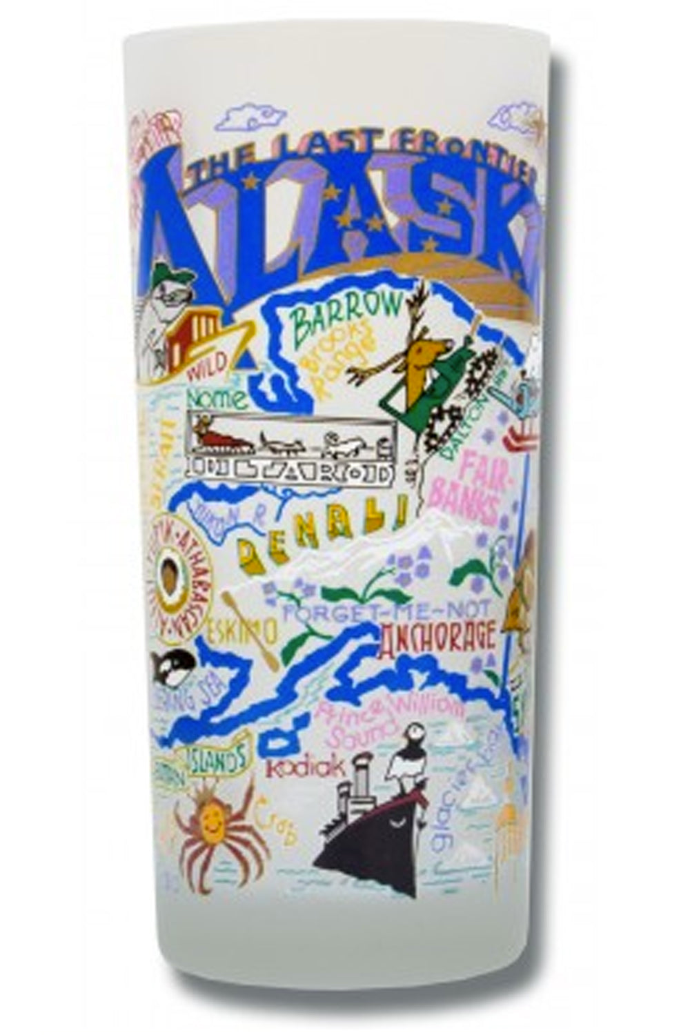 CS Frosted Glass Tumbler Cup - Alaska