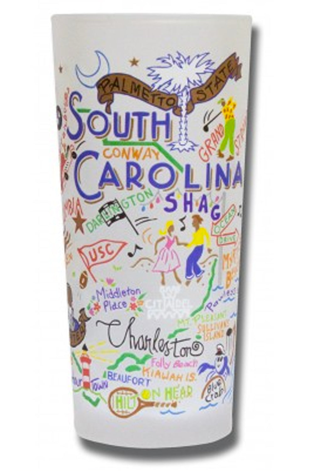 Frosted South Carolina Tumbler Cup
