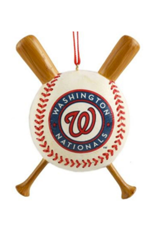 Resin Ornament - Washington D.C. Nationals Baseball & Bats