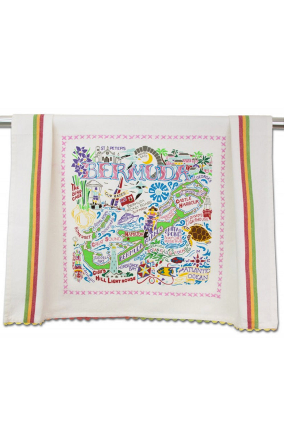 Embroidered Dish Towel - Bermuda