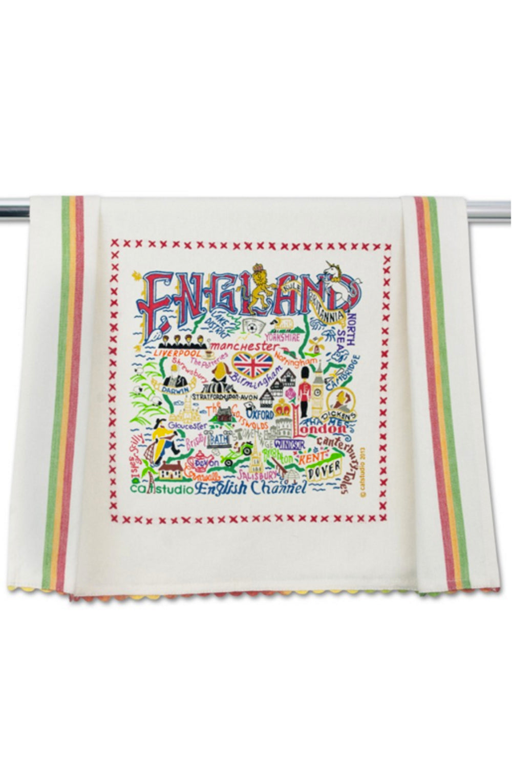 Embroidered Dish Towel - England