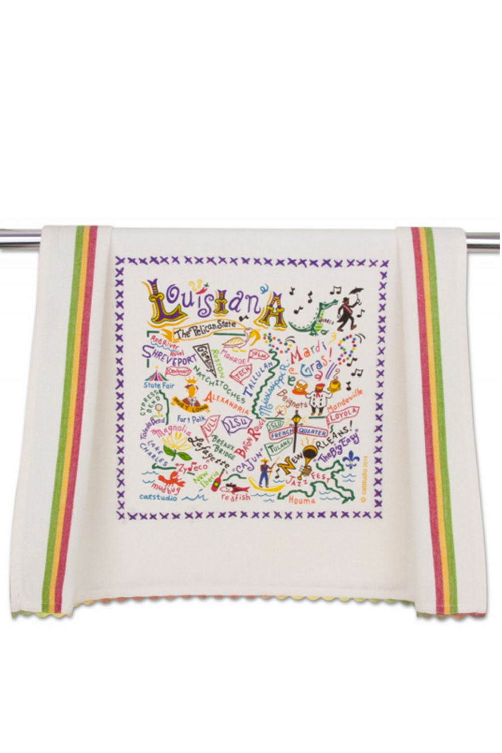 Embroidered Dish Towel - Louisiana
