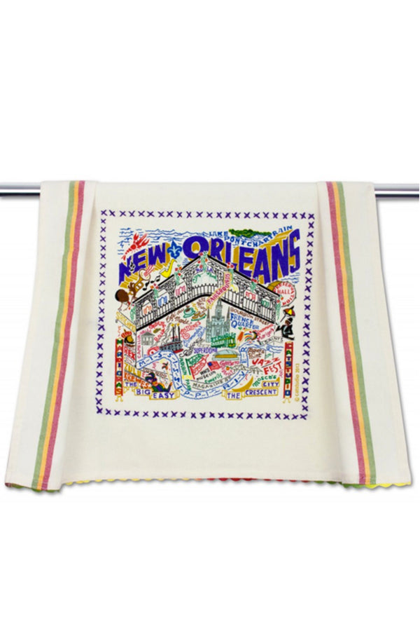 Embroidered Dish Towel - New Orleans