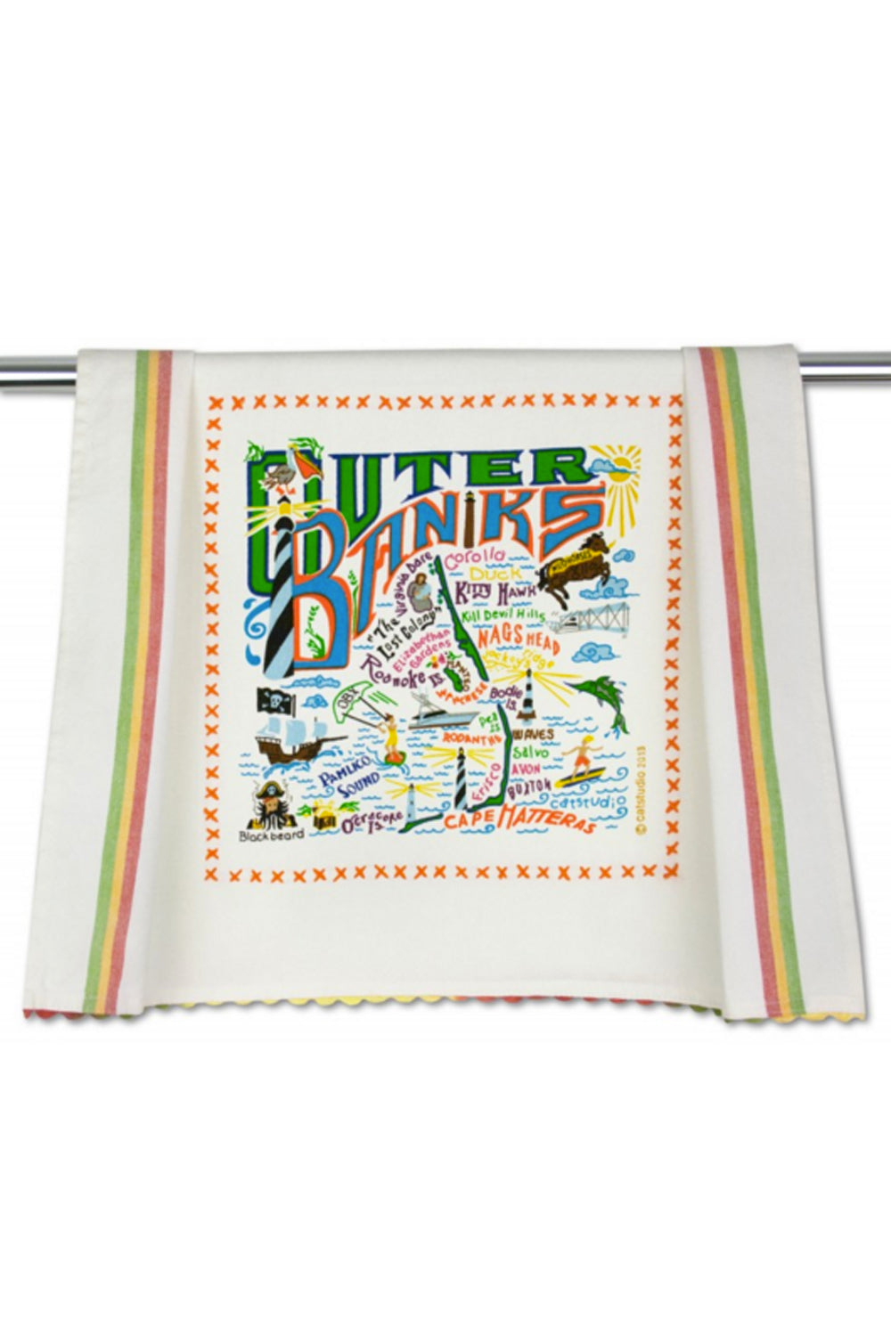 Embroidered Dish Towel - Outer Banks